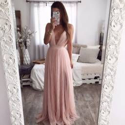Título do anúncio: Vestido de festa rosa