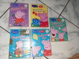 Coleção de dvd's da Peppa Pig original