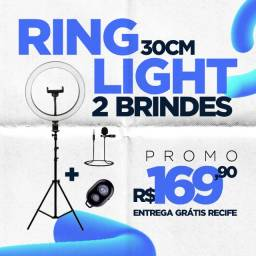 Ring Light 30cm (12 polegadas) + 2 brindes + 6x sem juros + garantia