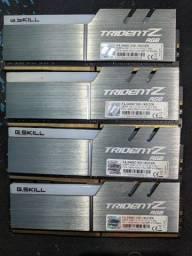 Memória Ram GSkill Trident Z 2400Mhz 8gb (4 pentes) RGB Ddr4