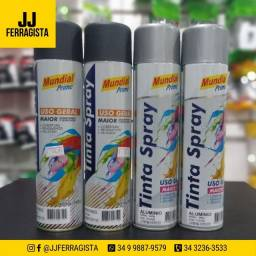 Tinta Mundial Prime Spray Preto, Alumínio *Fazemos Entrega