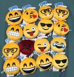 Almofadinha redonda emojis variados (kit com 16)