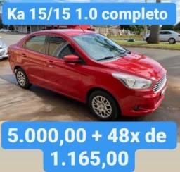 Ka 15/15 1.0 Completo 5.000,00 mais 48x de 1.165,00