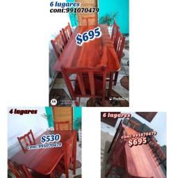 Promoção mesa madeira nova