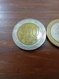 4 moedas Pesos do Chile
