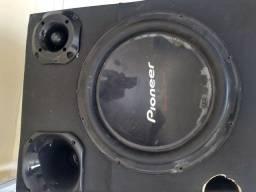 Título do anúncio: Sub,caixa de som sub Pioneer bobina dupla, corneta dx250 twitter hinor,
