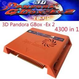 Pandora 3d gbox-ex2 4300 em 1 jogo arcade cartucho jamma pcb 720p vga + hdmi entrada usb