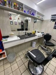 Bancada de barbearia ou salão de beleza
