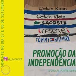 PROMOÇÃO DE 10 CUECAS POR 100,00