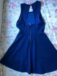 Vestido Curto Colcci Azul Godê