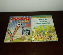 Título do anúncio: Kit álbum de figurinhas completo Campeonato Mundial de Futebol 94 + livro O Brasil na Copa