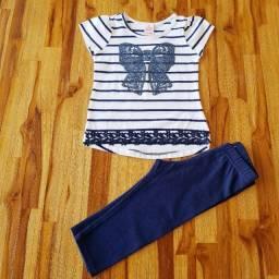 Conjunto calça capri e blusa- Marisol