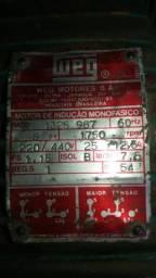 Motor weg monofásico 5cv