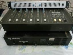 Mesa,amplificador e equalizador