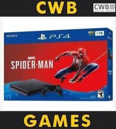 Playstation 4 1 tera byte,c/jogo do Homem aranha,lacrado com Garantia,loja fisica -Ps4