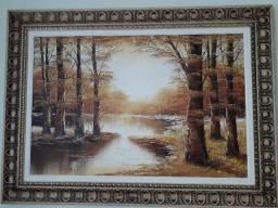 Quadro pintura óleo sobre tela 1,13 (largura) x 0,83 (altura)