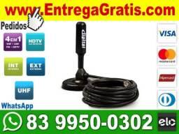 Não-perca!!! Antena Digital Hd FullHd Cabo 5m