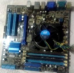Placa mãe P7H55-M/BR com processador i5 650 3.20 GHz + 6GB de memória
