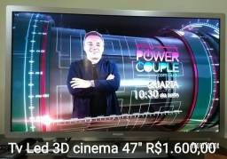 Tv led 3D cinema 47 polegadas