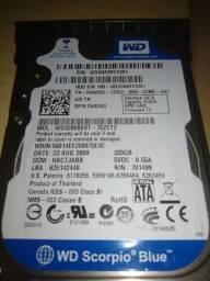 HD sata e memórias ddr2, ddr3 seminovos (notebook) Leia descrição