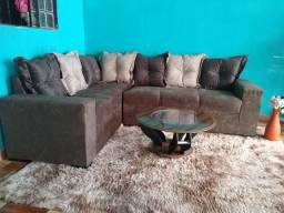 Lindo sofa de canto de 6 lugares mais almofadas soltas faço entrega