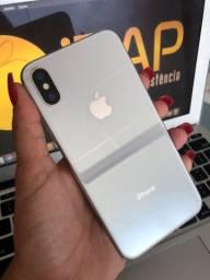 Título do anúncio: iPhone X 256GB branco (trinco próximo a câmera)