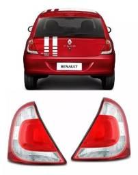 Par Lanterna Traseira Renault Clio Hatch 2013 2014 2015