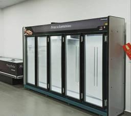 Balcão Refrigerado Expositor de Frios e Laticínios Auto Serviço 5 Portas Refrimate