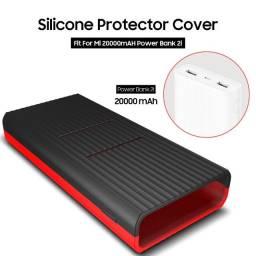 Capa de Silicone Protetora para Powerbank Xiaomi 20000 mAH