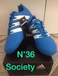 Chuteira society adidas N 36