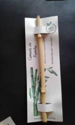 Canudo bambu - seja sustentável - novo