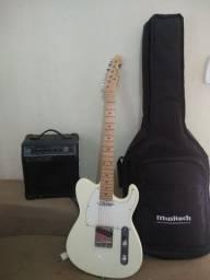 Guitarra + capa + amplificador