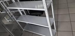Estante de aço c/ 6 prat 1,98cm cinza