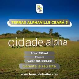 Terras Alphaville Ceará 3, Lote Poente, 338m2, Pronto Pra Construir