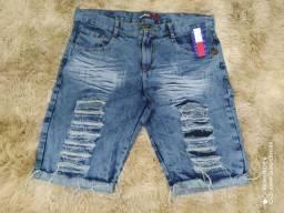 Bermudas jeans primeira linha
