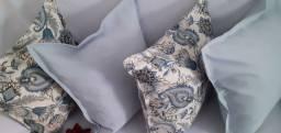 Kit de 05 almofadas decorativas completas com zíper