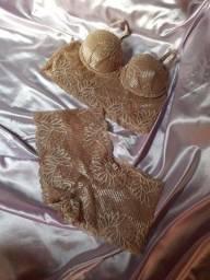 Conjunto de lingerie Donna de mim - Nude