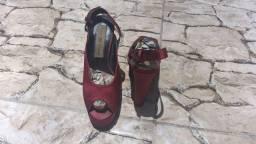 Sapato Plataforma N° 35 USADO