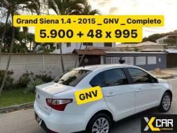Título do anúncio: Grand Siena 1.4 - 2015 _ GNV __ 2º Dono _ Completo