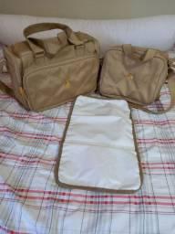Vendo bolsas de maternidade com bolso térmico para mamadeira.