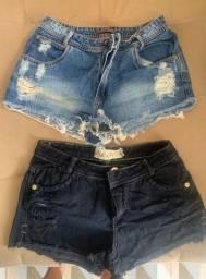 Shorts super conservados - pouco usados