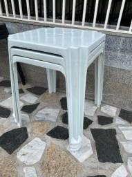 Título do anúncio: Super oferta de mesa plástica nova no atacado cor branca