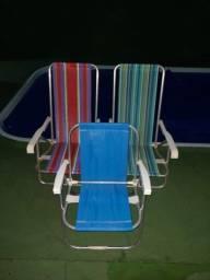 Cadeira em alumínio  pouco uso