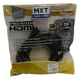 Cabo HDMi Premium 4k 3d 10 metros Mxt - novo - lacrado