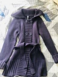 Título do anúncio: Sobretudo em tricô