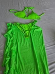 Biquini neos verde com saida longa