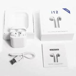 Título do anúncio: Fone De Ouvido Sem Fio Bluetooth 5.0 I12 Headphone / Airpods / Earbuds i12 fone pk i7 tws