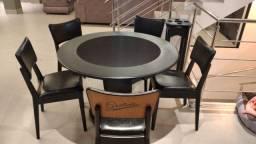 Mesa Carteado Cor Preta Tecido Preto Mod. LQAQ3521