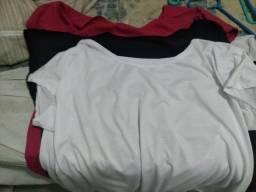 3 camisetas plus size G2