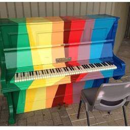 Aula de acordeon teclado violão
